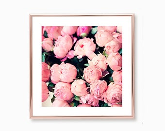 Peony print, extra large wall art, Peony wall art, wall art canvas, large wall art, pink wall art, flower art, canvas art, framed wall art