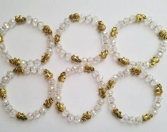 Elephant Bracelets Gift Set of 6