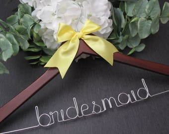 Bridesmaid Hanger - Bridal Party Hanger - Bridal Name Hangers - Bride Wire Hanger - Wedding Name Hangers - Wedding Wire Hanger