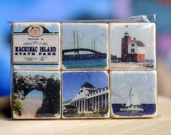 Mackinac Island - MIchigan Magnet Collection - set of 6
