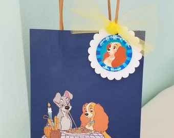 Set of 6 or 12 Birthday Party Goody Bags - Disney Lady and the Tramp