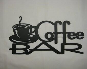 Coffee Bar Metal Wall Sign