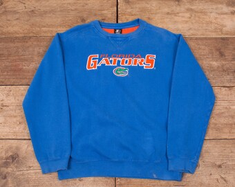 "Mens Vintage Starter Blue Florida Gators Jumper Sweatshirt Medium 40"" R7548"