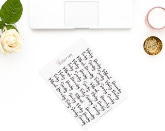 Bouncy weekly titles-en-stickerset-Watercolor sticker-pretty planning-scrapbooking-bullet journaling