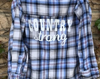 Vintage Flannel // Blue Country Strong // Medium