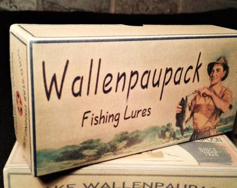 lake house decor Lake Wallenpaupack Pennsylvania fishing lure boxes make great nostalgic cabin decorations
