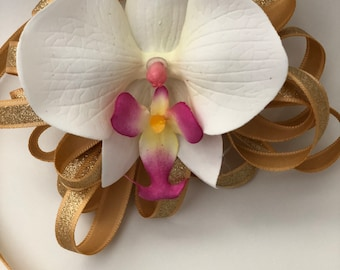 Corsage, Wrist Corsage, for Prom / Wedding /Bridesmaids / Silk Flowers / Orchids