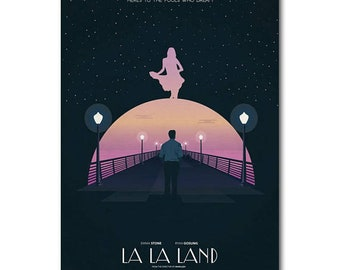 La La Land Here's To The Fools Who Dream Silk Wall decoration beautiful Poster Any Size you like