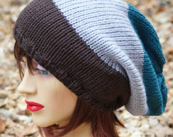 knitted oversized, Slouchy Beanie, Valentines Day, Dreads