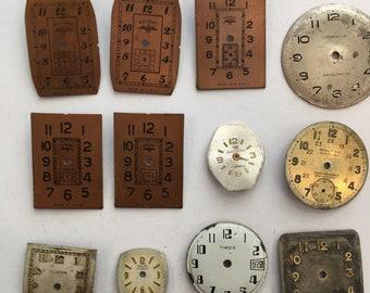 12 Vintage Watch Faces