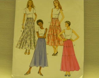 Uncut Butterick Pattern 5757 Fast and Easy Skirts