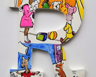 Book Letters -- Custom Hand Painted Wooden Letters -- Price per letter