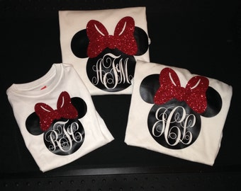Minnie inspired monogrammed shirt