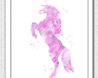 Unicorn printable art, unicorn Digital Download, unicorn print, pink unicorn instant download, unicorn nursery art, pink gray unicorn print