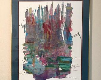 Ian King mixed media art