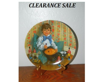 "Mother Goose Nursery Rhymes ""Little Jack Horner"" Collectible Plate - Reco / Bradex - 1982 - CLEARANCE SALE"