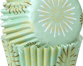 Starburst Mint Wilton Mini Cupcake Liners Baking Cups Muffin Cups - baking supplies cupcake supplies - mint green mini cupcake liners
