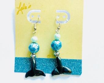 Dolphin Tail Earrings