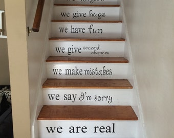 Stair Decals Etsy - Custom vinyl decals for wood