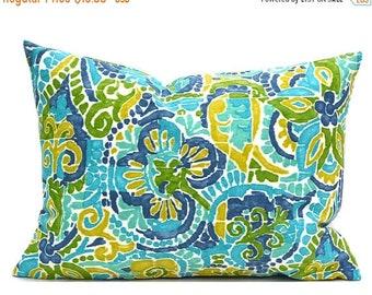 CLEARANCE SALE Indoor Outdoor Lumbar Pillow Covers Decorative Pillows Green Pillow Richloom Outdoor Destiny Caribbean
