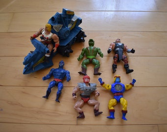 Vintage He-man Toy Lot He-man Masters of the Universe Action Figures and BattleRam