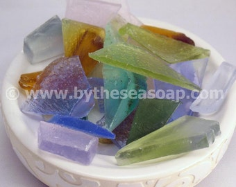 Beach Glass .....Sea Glass Soap ....   Guest Soap...Travel Soap...Ocean Treasures Glycerin Soap