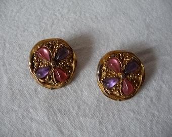 Clip on earrings, vintage