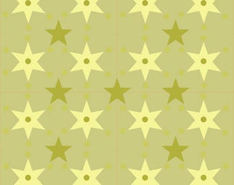 Fabric prints creating stars collection cement.
