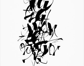 Parallel pen calligraphy how to write alphabet easy for