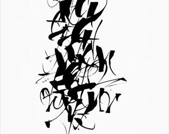 Calligraphy alphabet etsy