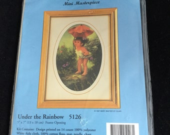 Under the Rainbow 5126/ Embellished Cross Stitch/ Mary Baxter St. Clair Mini Masterpiece / Candamar Designs Inc