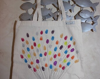 Tote bag Ballons multicolores