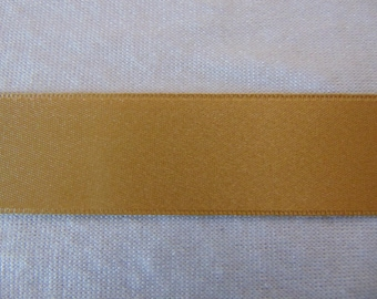 Double faced satin ribbon, sand (S - 304)