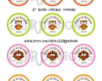 Turkey Cupcake Topper- Thanksgiving Cupcake Topper- Turkey Cupake Topper-Turkey Thank You