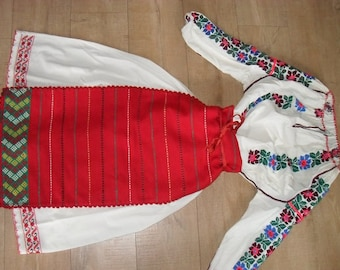 6 vintage Romanian folk dance costumes with embroidery