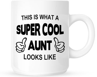 Aunt Coffee Mug - Gift for Aunt, Gift Idea for Auntie or Best Aunt to Be from a Niece,  Nephew or Family Member