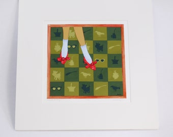 DOROTHY onward, dorothy.  limited edition print, signed & numbered, of dorothy's adventure to and through oz