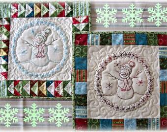 A Sweet Little Snowman PDF Quilt Block pattern From Quilt Doodle Designs