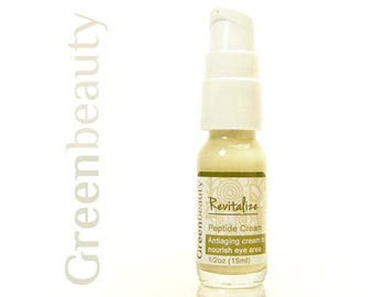 Peptide under eye serum, 1/2oz, anti-aging eye cream, face serum, under eye cream, peptide moisturizer for sensitive eyes, face moisturizer