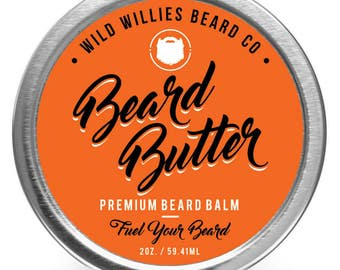 Wild Willie's Beard Butter-Amazing Beard Balm with 13 Natural Locally Sourced Ingredients to Condition and Treat Your Beard or Mustache 2oz.