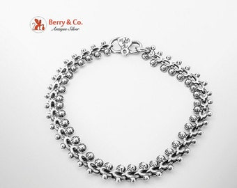 SaLe! sALe! Ornate Chain Bracelet Sterling Silver 1980