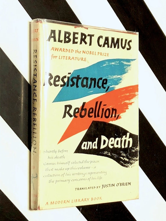 Resistance, Rebellion, and Death by Albert Camus (1960) Modern Library hardcover book