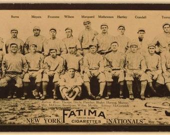 New York Giants 1913 baseball card Fatima cigarettes reproduction large print