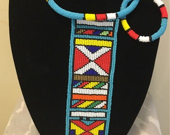 Ndebele rope and tail nevkpuece with bracelet