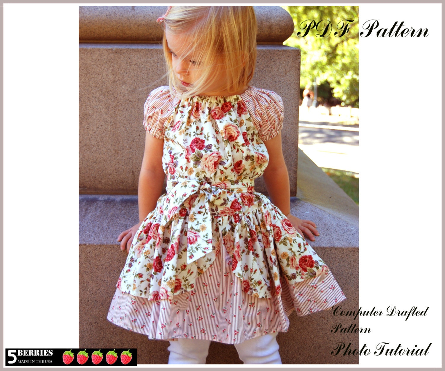 Alexandra PEASANT DRESS PATTERN + Free Mother-Daughter Apron Pattern ...