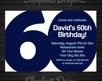 40th Birthday Invitation 40 Adult forty also suit 30th