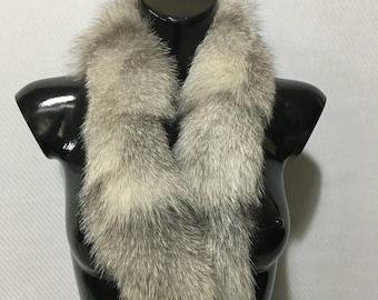 Beautiful Real Frost Ice Fox Fur Small Collar