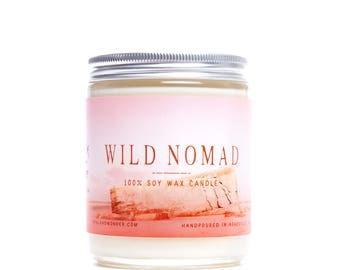 Wild Nomad Archetype Candle | All Natural Soy Candle | Earthy Candle | 8 oz Soy Candle for Him