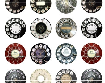 Phone Dial Magnets Pins Rotary Vintage Retro Party Favors Wedding Rotary Phone Dials Memorabilia
