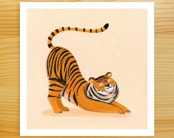 Tiger Stretch 5x5 Print